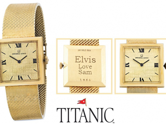 Elvis Presley's Famed Gold Watch At Titanic Museum In Branson
